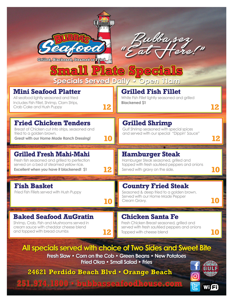 Bubba S Seafood Restaurant
